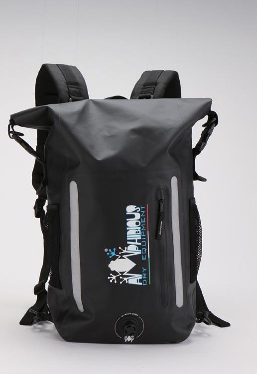 AMPHIBIOUS(アンフィビウス)イタリア製防水バッグATOM LIGHT EVO(アトム ライト エヴォ)BLACK15L【送料・代引手数料無料】