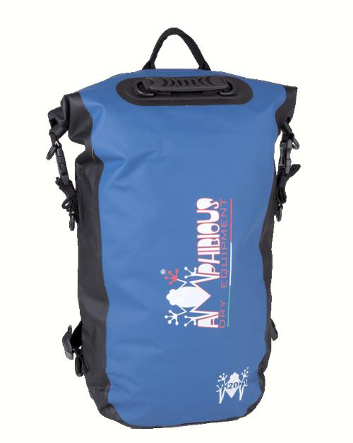AMPHIBIOUS(アンフィビウス)イタリア製防水バッグKIKKER(キッカー)BLUE20L