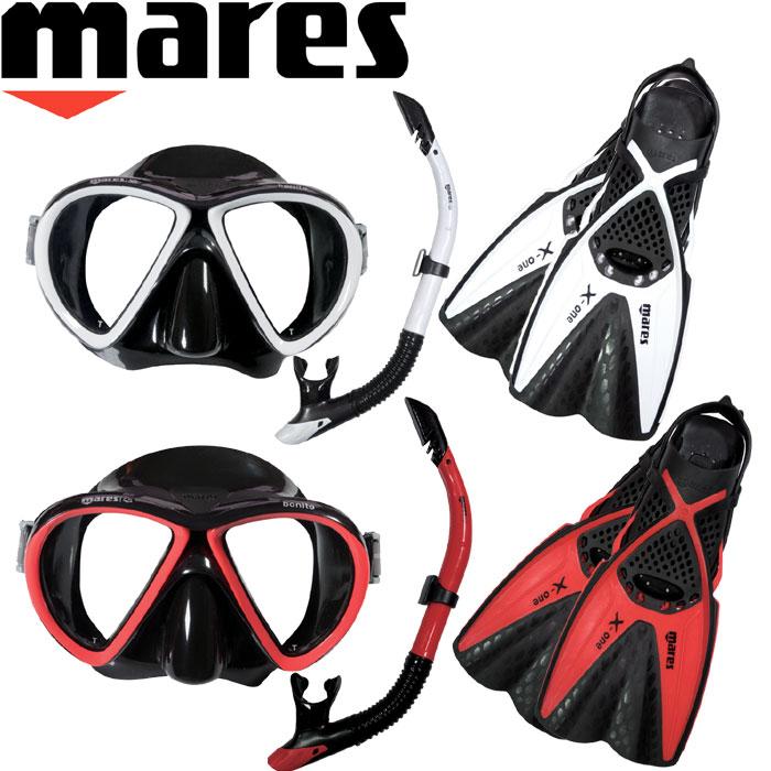 mares(マレス)X-ONE MAREA SET(エックスワンマレアセット)【大人用】マスク・スノーケル・フィンセット