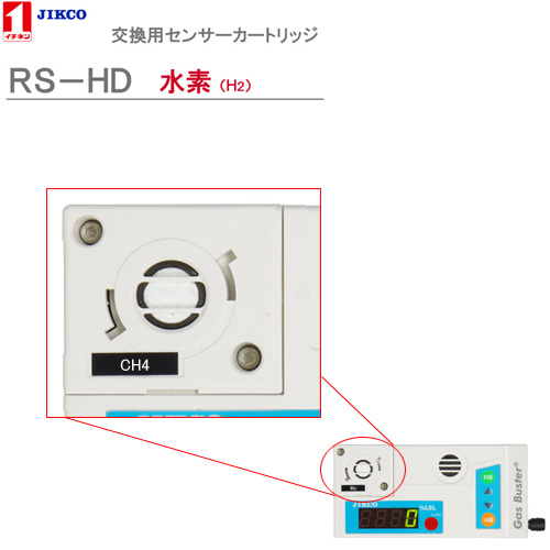 センサーカートリッジ【水素】 <RS-HD>ガスバスター イチネンジコ-【送料・代引手数料無料】