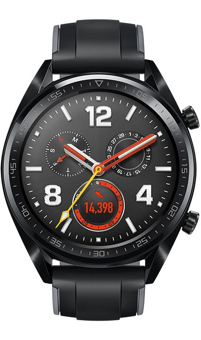 Huawei WATCH GT sports BlackHUAWEI(ファーウェイ ウォッチジーティースポーツ)充電を気にせず旅行【送料・代引手数料無料】GPS内蔵 スポーツ スマート ウォッチ