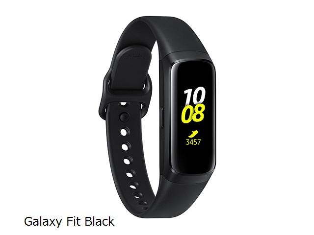 Samsung Galaxy FitBlackGPS搭載高機能スマートバンドSM-R370NZKAXJP