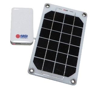 モバイル太陽電池バイオレッタ・ソーラーギア VS02 白(電池別売)