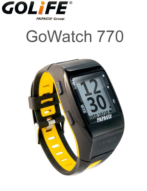 GOLiFE GPS functionality with GoWatch770 sport watch yellow