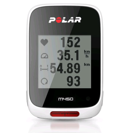 POLAR(ポラール)【M450 ホワイト】 (GPS内蔵・心拍センサーなし)【日本語対応/日本正規品】【送料・代引手数料無料】≪あす楽対応≫