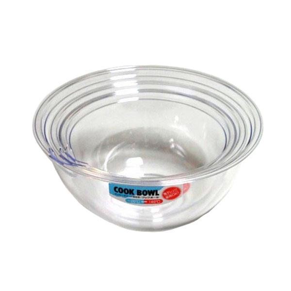 日本製 人気 おすすめ 電子レンジ対応の耐熱温度140℃ 透明ボウル ポリカクックボウル プラスチックボール 好評 17cm 透明ボール