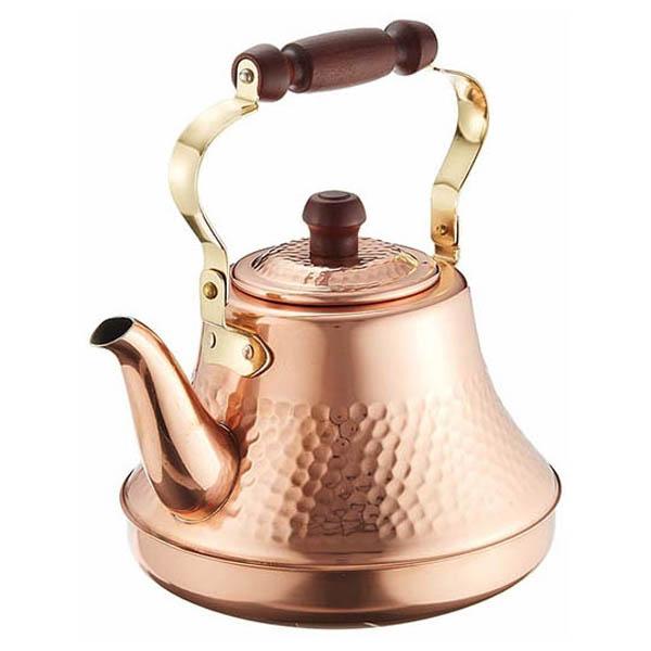 高級感のある日本製の銅製やかん。 タケコシ 純銅クラッシーケトル 2.5L 銅やかん 【送料無料】