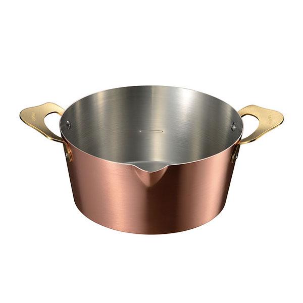 ameiro 揚げ物鍋18cm(内側 錫メッキ) 銅の揚げ鍋