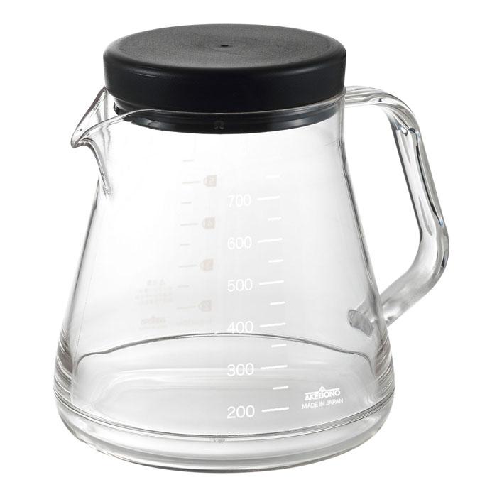 ガラスのように透明なのに割れにくいコーヒーポット コーヒーサーバーストロン750 お気に入り ブラック 安売り