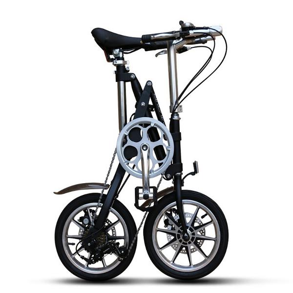 【エントリーで5倍と最大3000円クーポン配布】 折りたたみ 自転車 14インチ 小径車 ミニベロ シマノ7段変速機 通勤 通学 便利 おすすめ
