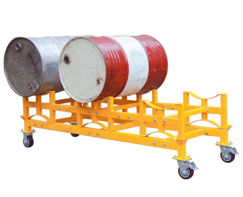 ドラムラック TY150 耐荷重1500kg ドラム缶スタンド キャリー付き ドラム缶ラック ドラム収納棚 ドラム缶3本収納 ドラム缶スタックラック ドラム缶運搬車 ドラムキャリー ドラムスタンド キャスター付き