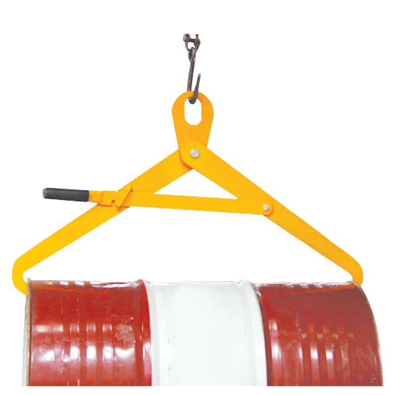 ドラム缶吊具 ドラム缶横吊り具 ロック付き スチールで頑丈 DM500 耐荷重500kg ドラム缶吊り具 ドラム缶横吊りクランプ ドラム吊り具 ドラム吊具 横吊り 横吊 キャッチャー フック ドラム缶 ドラムキャリー