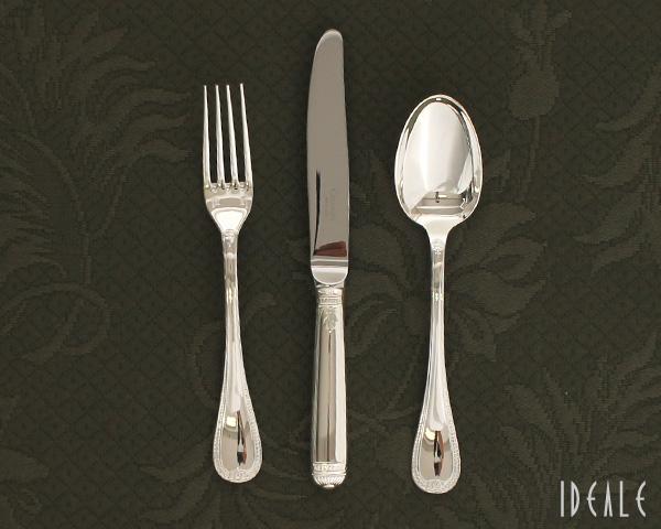 クリストフル マルメゾン 14 デザートスプーン & 15 デザートフォーク & 10 デザートナイフ 3点セット 【カトラリー 銀食器 シルバー】【あす楽対応】【ラッキーシール対応】
