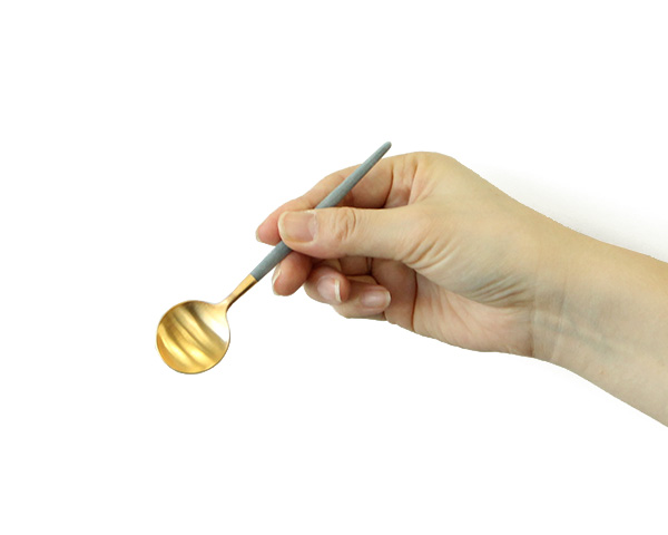 クチポール ゴア グレーマットゴールド コーヒー/ティースプーン Cutipol GOA [決算セール2弾]