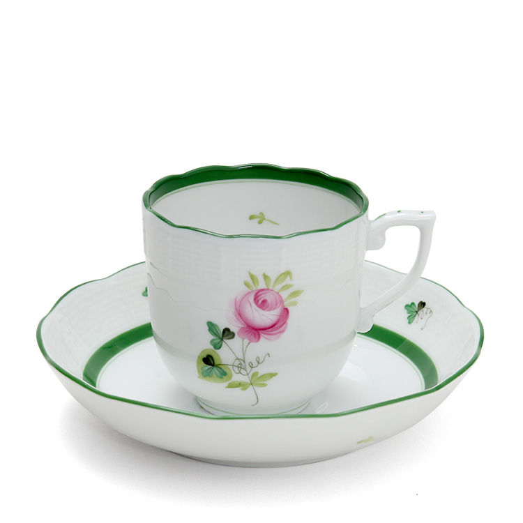 ヘレンド VRH ウィーンのバラ 707/0/00 コーヒーカップ&ソーサー 【ギフト】【あす楽対応】【ラッキーシール対応】