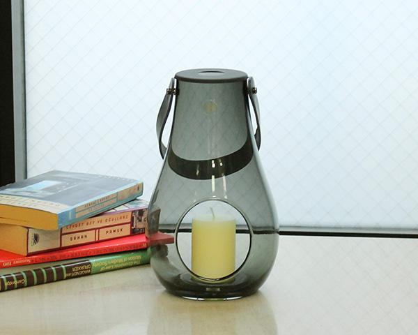 ホルムガード ランタン/デザイン ウィズ ライト スモーク M 25cm Holmegaard DESIGN WITH LIGHT 【キャンドルホルダー Lantern フラワーベース ギフト】