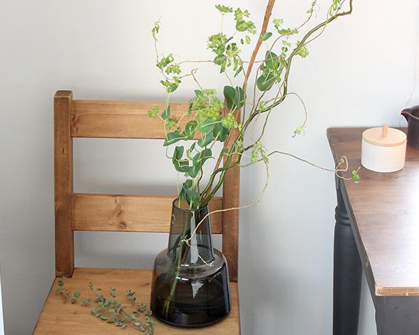 ホルムガード フローラ ベース 24cm ミディアム スモーク Holmegaard Flora vase 【花瓶 マウスブロウ(手吹き) フラワーベース ギフト】【ラッキーシール対応】