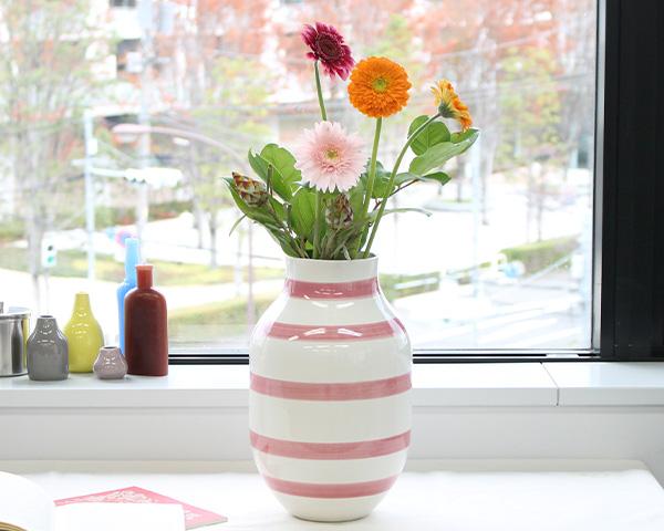 ケーラー Kahler オマジオ ベース Lサイズ 305mm ローズ 【花瓶 ギフト】【ラッキーシール対応】