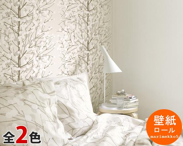 選べる2色 マリメッコ ルミマルヤ 壁紙 幅70cm marimekko UNIKKO Marimekko5(限定シリーズ) 【あす楽対応】【輸入壁紙】【ラッキーシール対応】