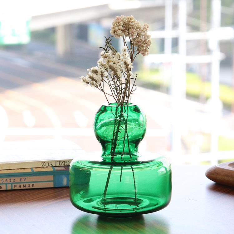 マリメッコ フラワーベース マウスブロウ(手吹き) グリーン marimekko 【花瓶 手吹きガラス 一輪挿し ギフト】【ラッキーシール対応】