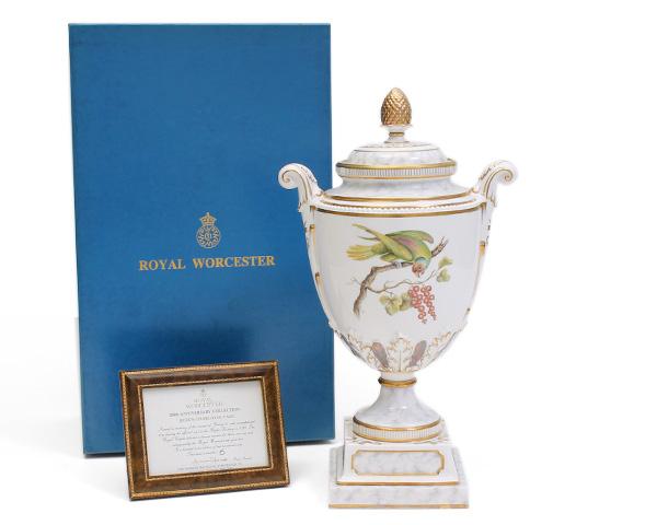 ロイヤルウースター ベース クィーンシャーロット 限定品 Royal Worcester 【蓋付き 花瓶 壺】[決算セール2弾]