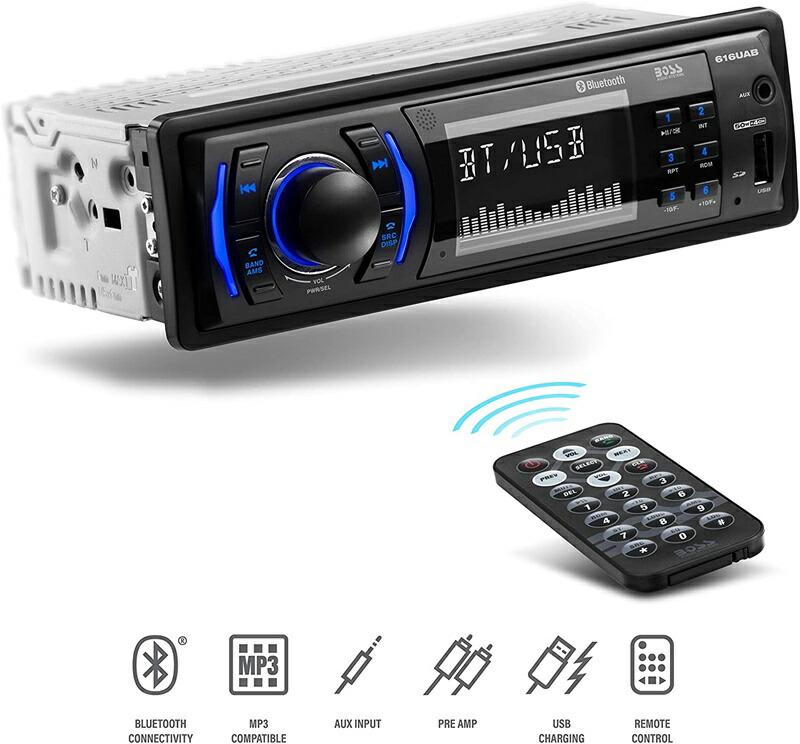 カーオーディオレシーバーのベストセラー ボーズ 土・日のステイホーム応援10%オフクーポン BOSSオーディオシステム 616UAB マルチメディア カーステレオ シングルディン LCD Bluetooth オーディオおよびハンズフリー通話 内蔵マイク MP3 / USB Aux-in AM / FMラジオレシーバー BOSS Audio Systems