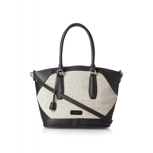 20%オフクーポン+キャッシュレス5%還元 輸入 レディース ハンドバッグ ロンドンフォグ London Fog エイブリー リネン ショルダーバッグ ブラック Women's Avery Linen Shoulder Bag Black
