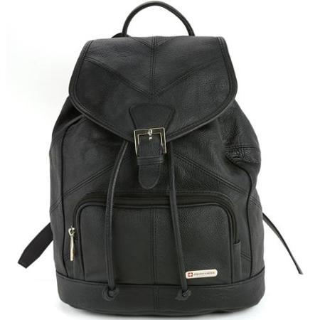 アルパイン スイス 送料無料 レディース 本革 レザー バックパック リュック レザーリュック 財布 ハンドバッグ デイパック 海外 直輸入 Alpine Swiss Womens Leather Backpack Purse Handbag