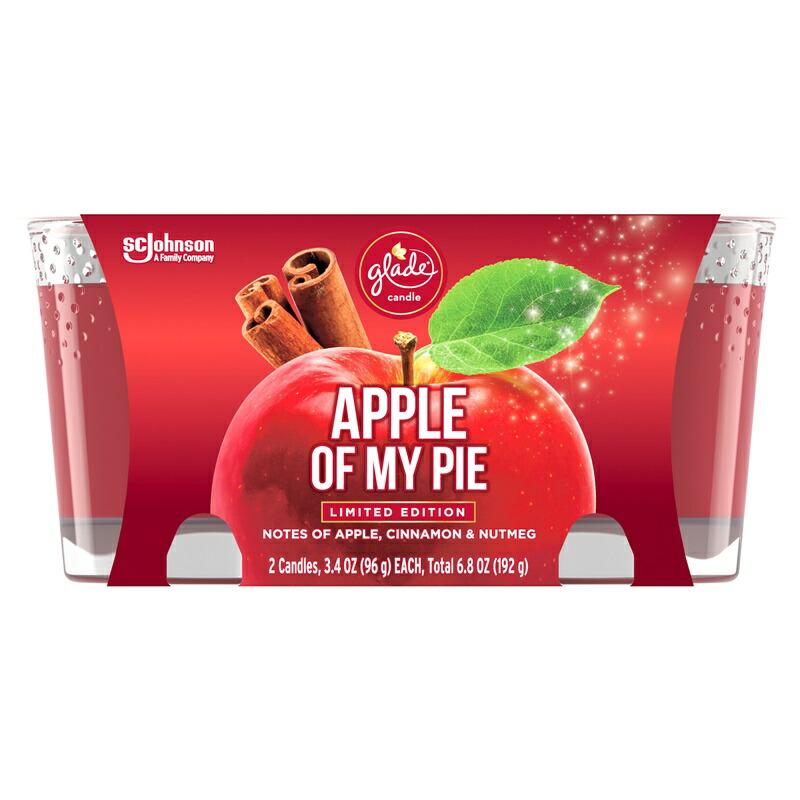 輸入 人気 おすすめ かわいいガラス容器のジャーキャンドル 素晴らしい香りが特徴 いい匂いに魅了 土 日のステイホーム応援10%オフクーポン グレード キャンドル 2個セット アップルパイ シナモン バースデー 記念日 ギフト 贈物 お勧め 通販 ナツメグ 香り Ounce 2 アロマキャンド Of Jar 3.4 x 96g My Candle Pie Glade セール ル Apple
