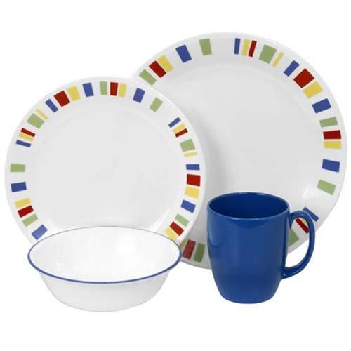 コレール Corelle 輸入 海外 食器セット 人気 リビングウェア ガラス 16-ピース ディナーウェア セット 4x4セット メンフィス