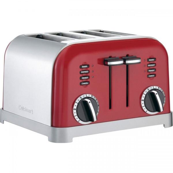 【全品5%OFFクーポン対象】Cuisinart (クイジナート) トースター 赤 CPT-180R 4-Slice Toaster Red