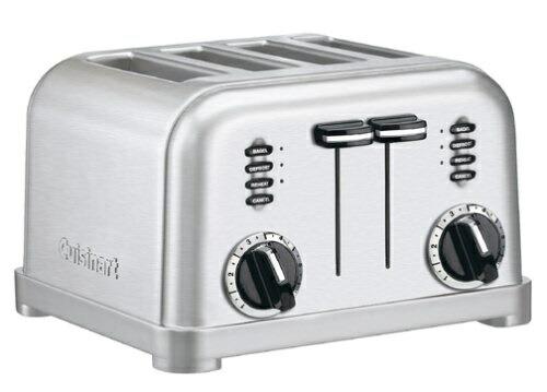 【全品5%OFFクーポン対象】Cuisinart クイジナート CPT-180BCH メタルクラシック 4スライス トースター ブラッシュステンレス