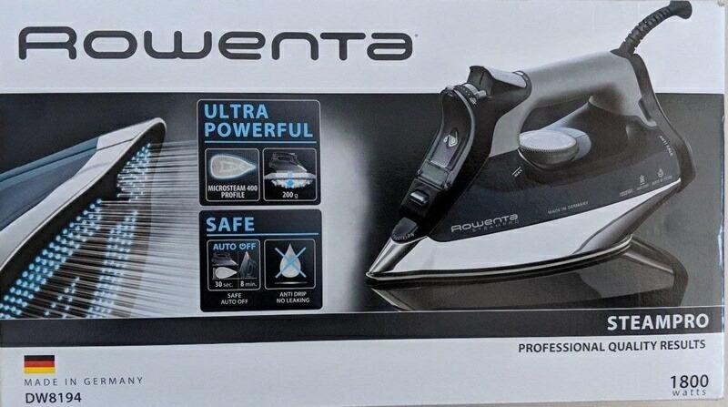 ROWENTA DW8194 フォーカス スチームアイロン 400ホールステンレス鋼 底板 1800W アイロン ブラウン 高機能 おすすめ アイロン