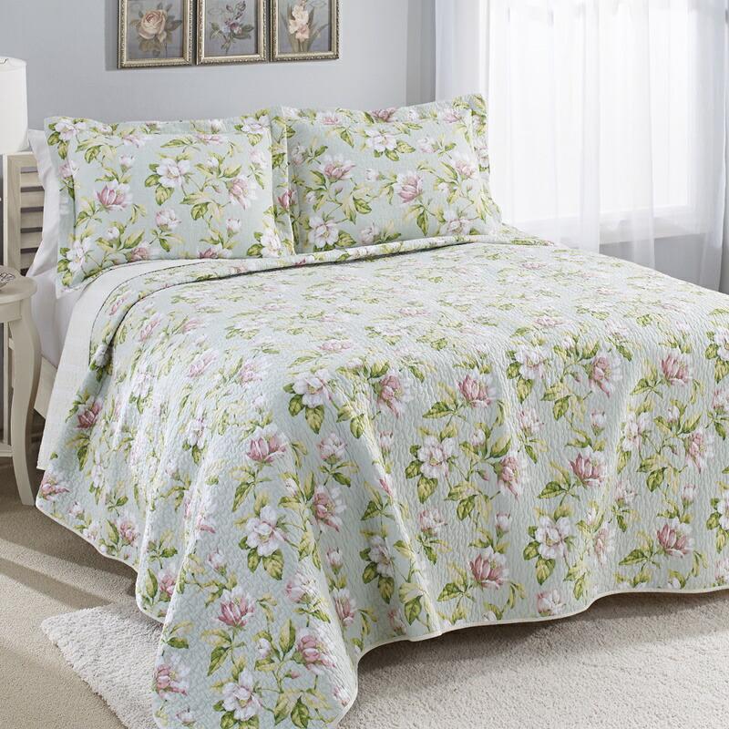 ローラアシュレイ シングル ベッドキルトセット ピンク マルチカバー キルト 寝具 ベッドカバー ピロケース