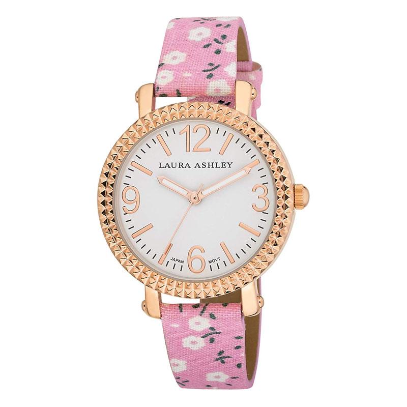 【出血の20%オフクーポン・ポイント2倍】レディースウオッチ ローラアシュレイ 腕時計 花柄バンド Laura Ashley Women's LA31005PK Analog Display Japanese Quartz Pink Watch
