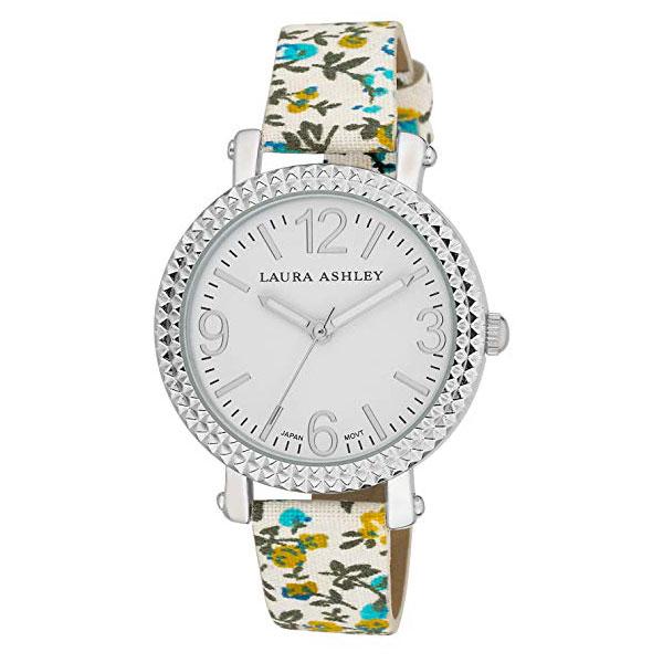 【出血の20%オフクーポン・ポイント2倍】レディース アナログ ウオッチ ローラアシュレイ 腕時計 花柄バンド ブルー Laura Ashley Women's LA31005BL Analog Display Japanese Quartz Blue Watch