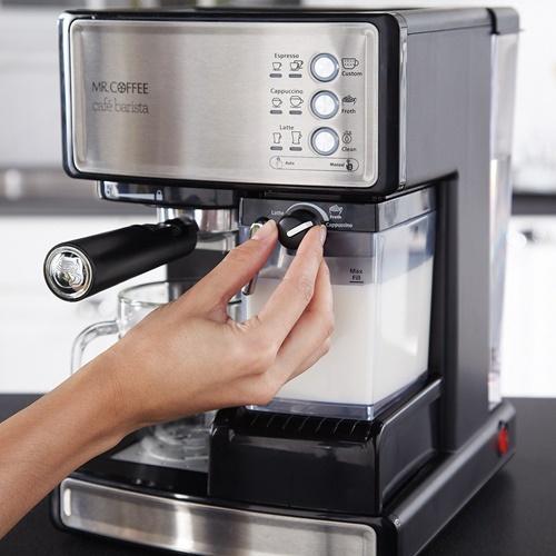 カフェバリスタ エスプレッソメーカー BVMC-ECMP1000 ミスターコーヒー Mr. Coffee カプチーノ カフェラテ