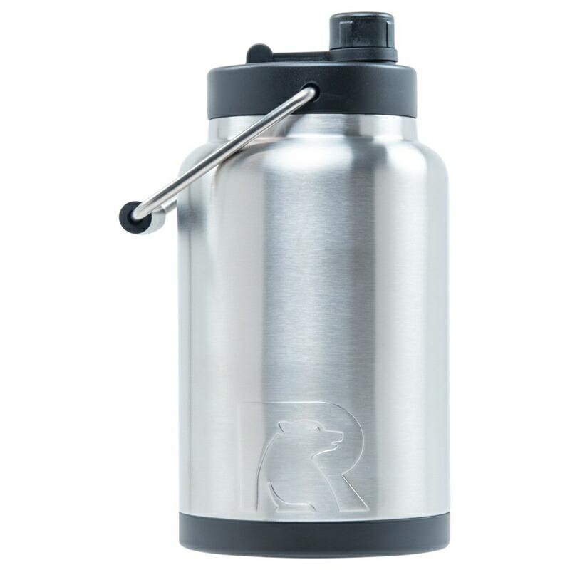 20%オフクーポン+キャッシュレス5%還元 水差し ジャグ 大型 人気 RTIC 0.5ガロン ビッグサイズ タンブラー ステンレススチール 二重壁 真空断熱加工 24時間氷をキープ 持ち運び マグカップ Rtic Stainless Steel Bottle (1.9L)