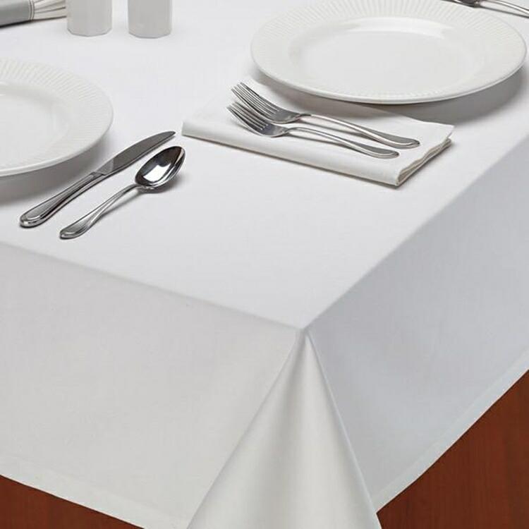 テーブルクロス デザインインポート DII レストランタイプ 152cmx213cm 100% コットン Restaurant Quality Tablecloth