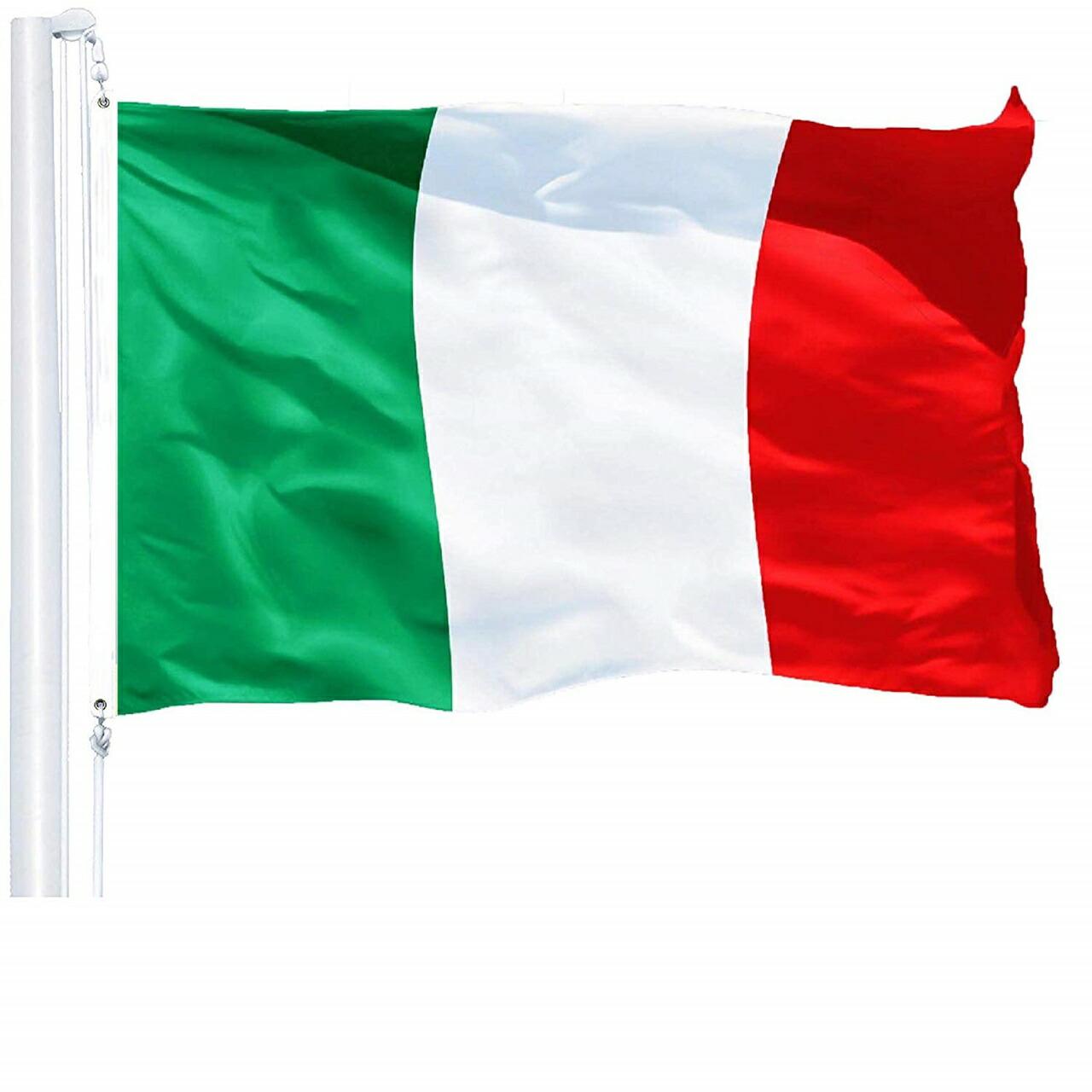 インテリアにも 人気のイタリア国旗 イタリー 人気の国旗 イタリア国旗 セール商品 配送員設置送料無料 三色旗 国旗 トリコロール イタリー国旗 Polycotton 91.4cm フラッグ x152.4cm