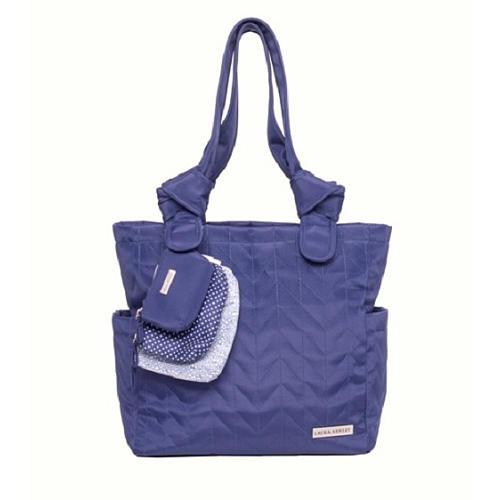 ローラアシュレイ マザーズバッグ 6点セット ラージ キルト トートバッグ ブルー おむつバッグ