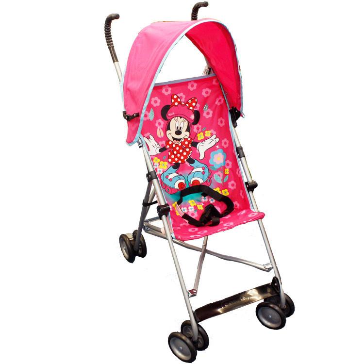 Disney ディズニー カラフルで楽しい ミニー ピンク キャラクター アンブレラ ストローラー ベビーカー キャノピー付