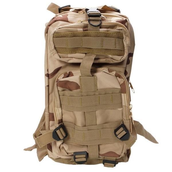 防水 20L バックパック アサルト  アウトドア キャンプ ハイキング 旅行 [Sand Color Camouflage]