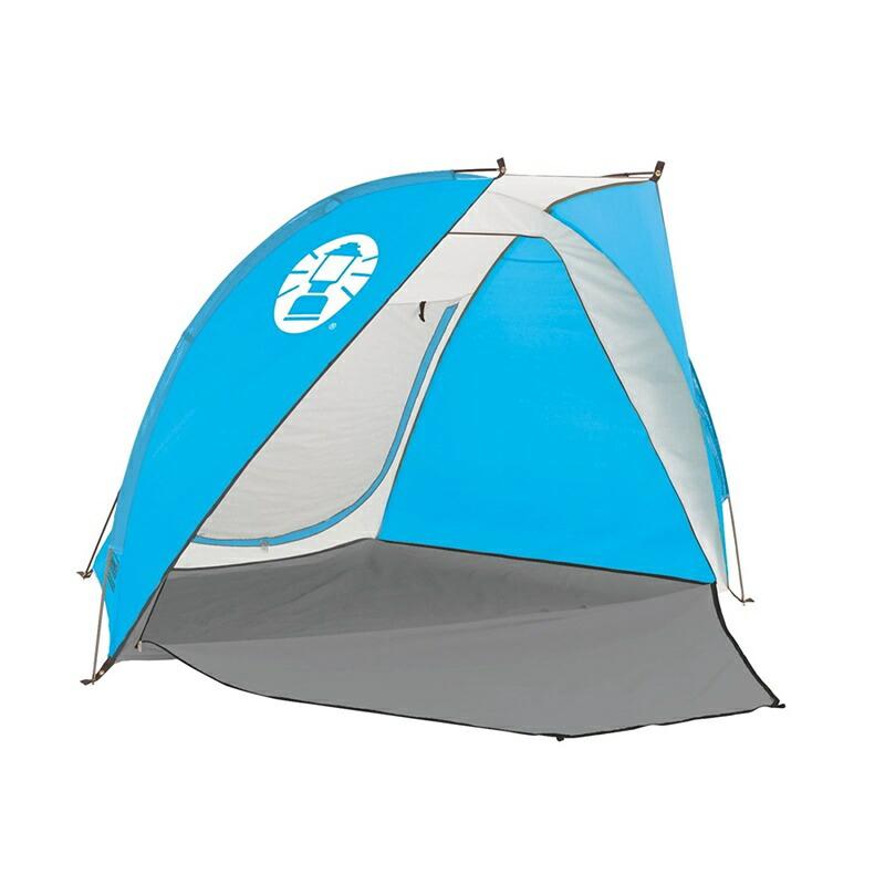 コールマン コンパクト ビーチシェード ブルー 海 山 川 公園 紫外線防止 シェードシェルター テント