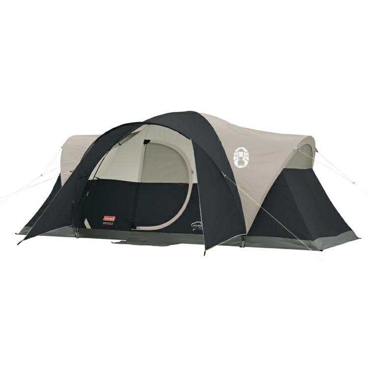 【フライデイセール:11%オフクーポン発行中】アウトドア 輸入 テントコールマン モンタナ 8人用 ドーム ブラック 大型 Coleman Montana 8-Person Tent Black