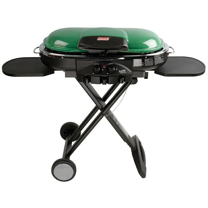 コールマン ロードトリップ バーベキュー グリル【 グリーン 】Coleman Road Trip Propane Portable Grill LXE 変換アダプター付 国内使用対応商品