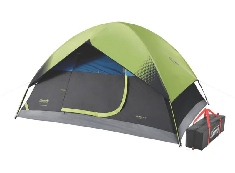 【夏休み限定クーポン5%オフ】アウトドア 輸入 テント ファミリー コールマン サンドーム 4人用 ダークルーム ドーム 輸入 Coleman 4-Person Dark Room Sundome Tent, Green/Black/Teal
