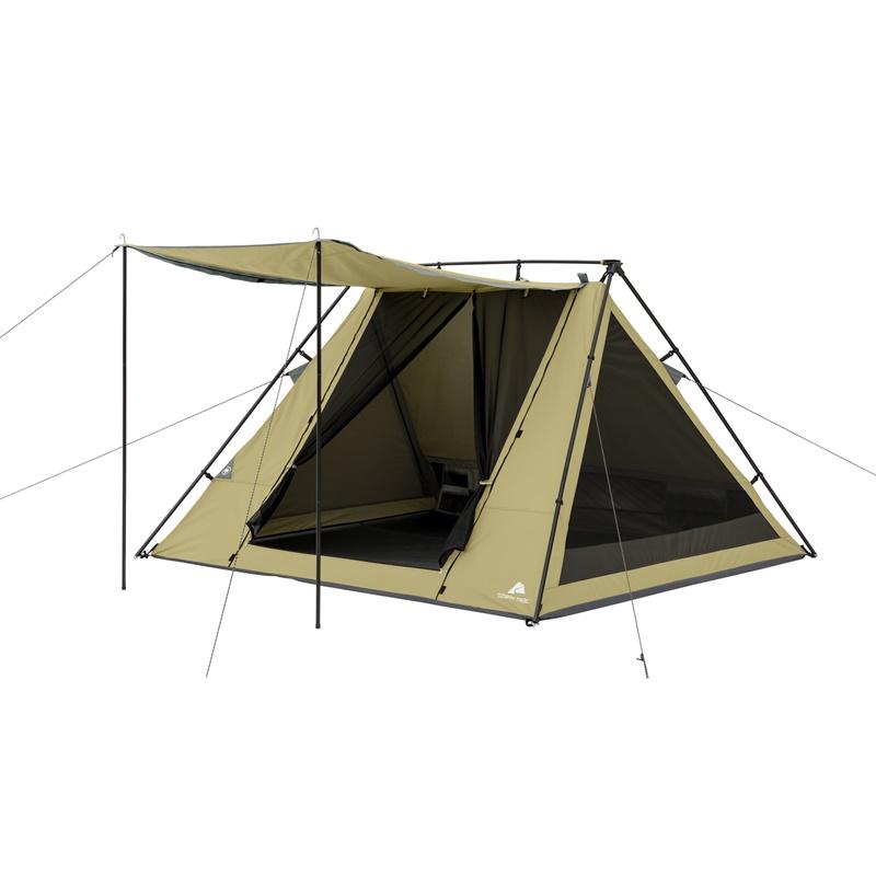 【5%オフクーポン発行中】アウトドア 輸入 テントオザークトレイル  Ozark Trail Aフレームテント 4人用 オーニング付き Ozark Trail 4 Person A-Frame Tent with Awning