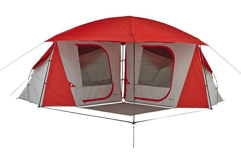 オザクトレイル テント 8人用 ドーム コネクト テント 大型テント キャノピー付き Ozark Trail 8-Person Dome ConnecTent with Versatile Canopy