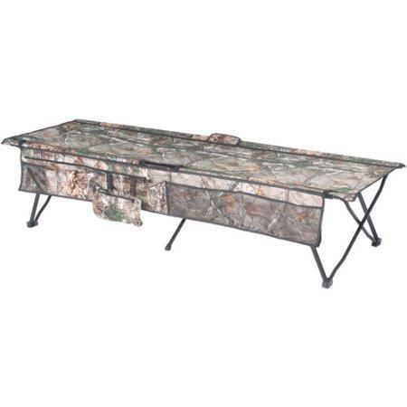 オザークトレイル インスタントコット キャンプ用ベッド 折りたたみベッド 迷彩柄 耐荷重113kg Ozark Trail Instant Cot Can Realtree Xtra